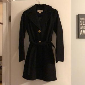 Michael Kors Hooded Belted Coat